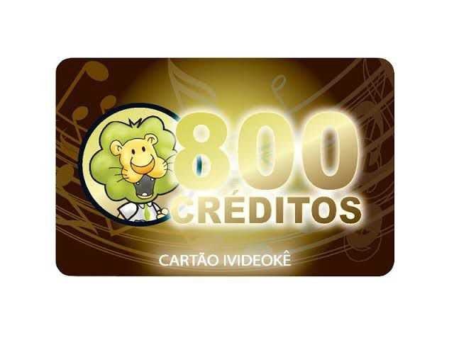VIDEOKE CARTÃO PRÉ-PAGO 800 CR p/ ivideoke