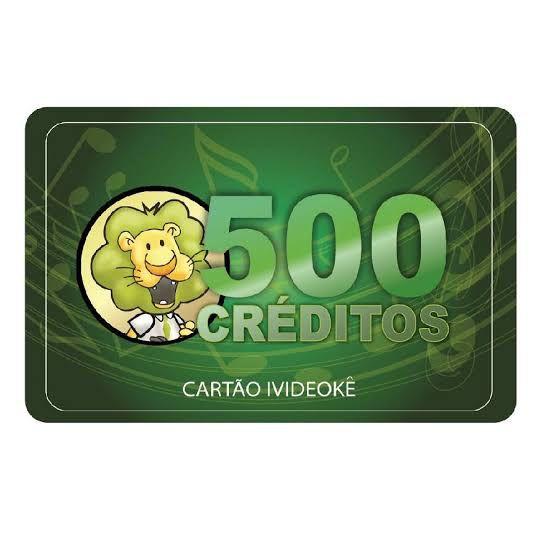 VIDEOKE CARTÃO PRÉ-PAGO 500 CRÉDITOS p/  ivideoke