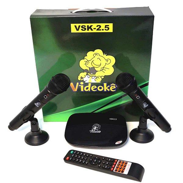 Videokê VSK 2.5 com 2.935 Músicas Nacionais Lançamento