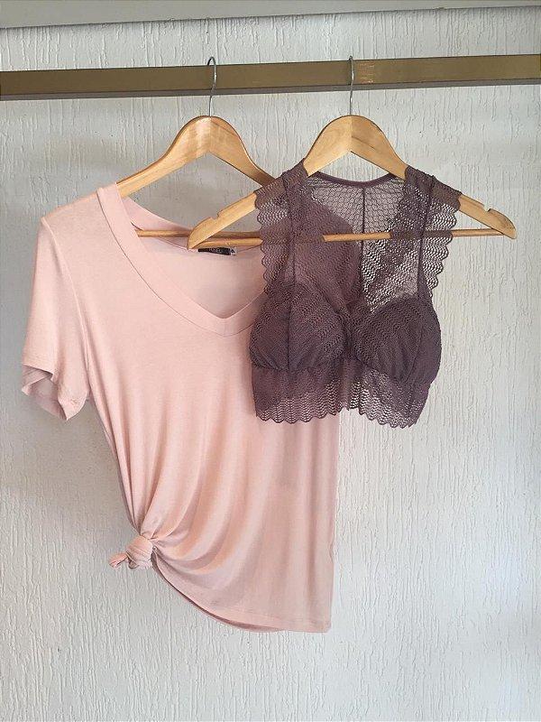 Combo Blusa Rosé+top Lavanda