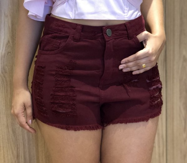 Shorts Jeans Marsala