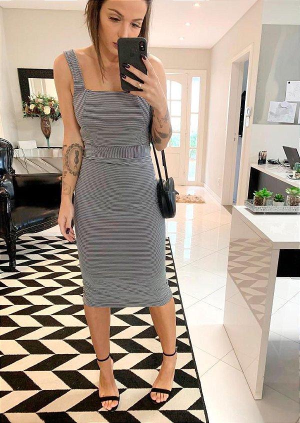 Vestido Mid Listras