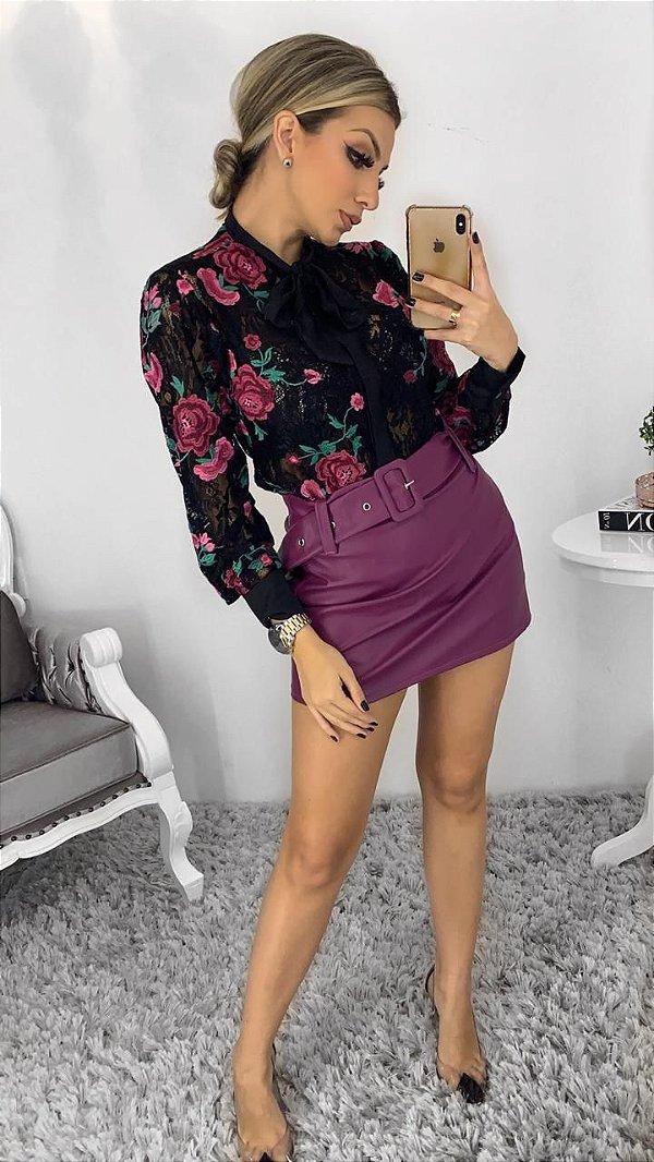 Shorts saia roxo