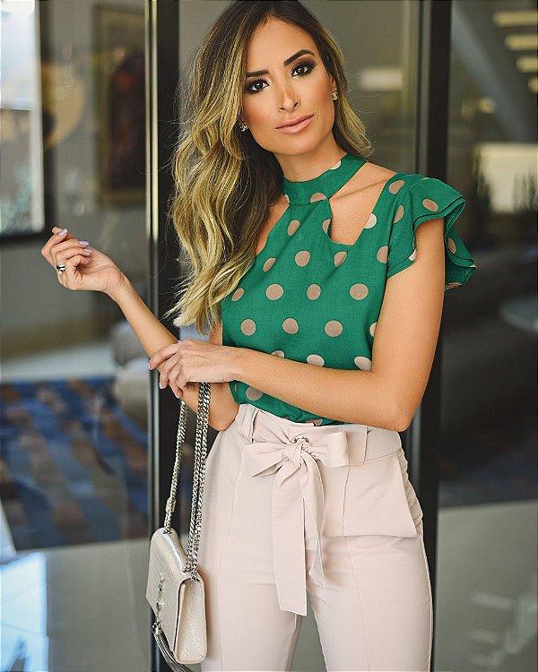 Blusa Póa Verde