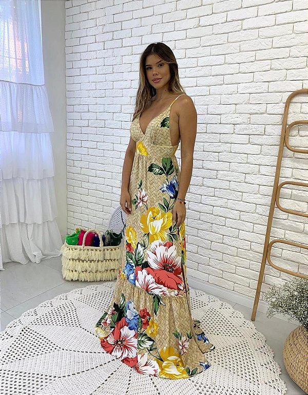 Vestido longo Rebeca
