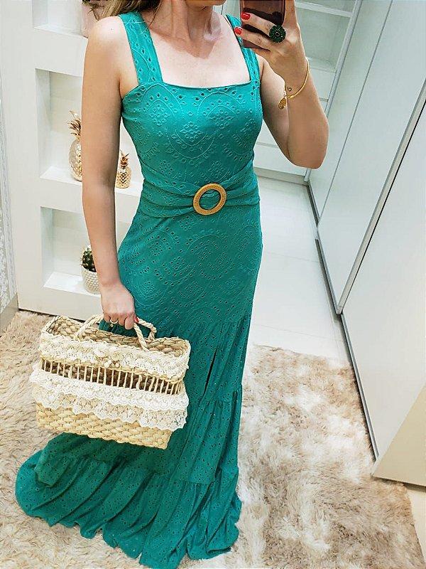 Vestido Longo Turquesa