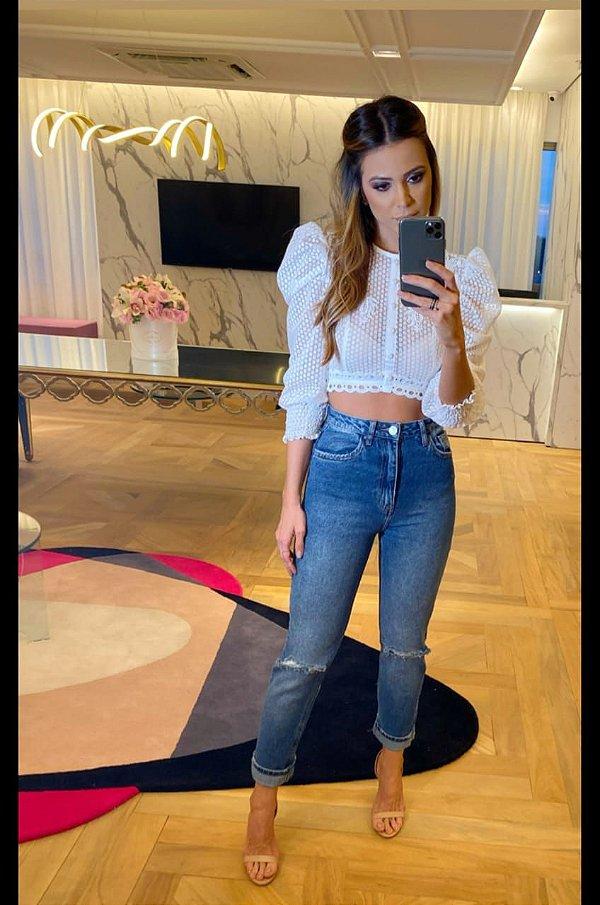 Calça jeans rosy