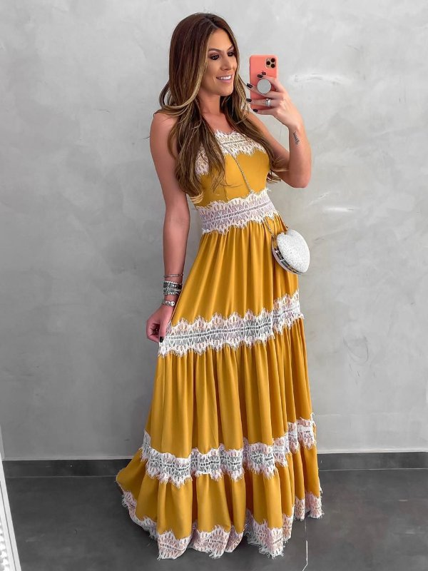 Vestido longo Gleise