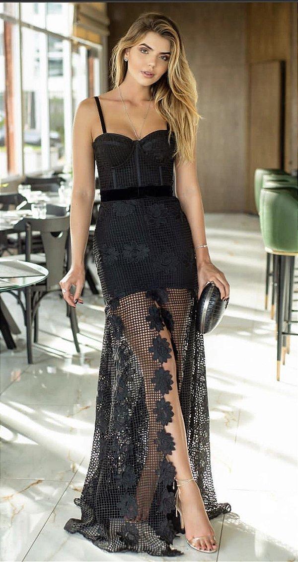 Vestido Valentina preto