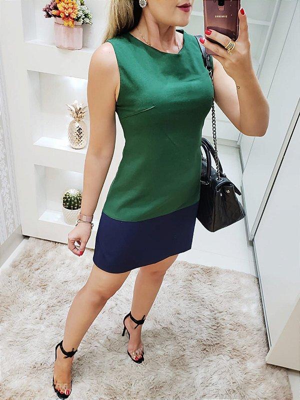 Vestido Verde e Azul
