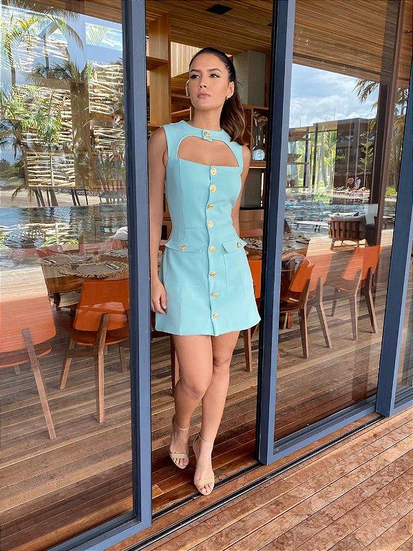 Vestido Roseane Azul