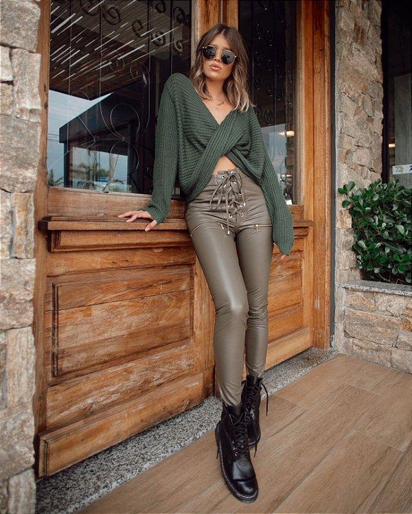 Calça verde Ilhoes