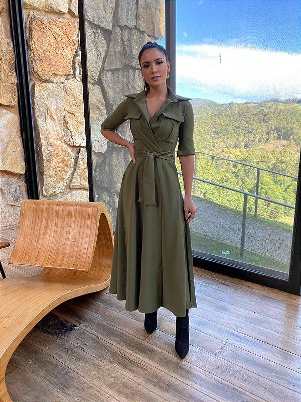 Vestido mid Poliana