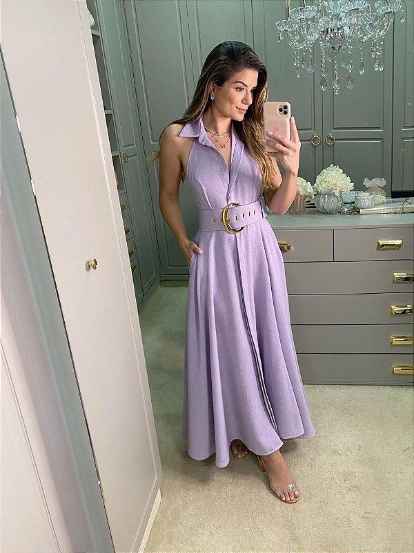 Vestido mid Lilas ariane