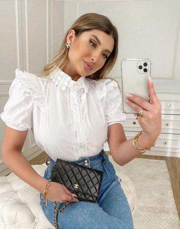 Camisa Tricoline Angela
