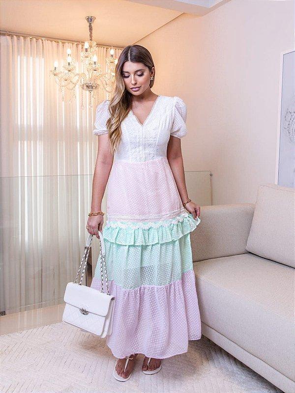 Vestido Mid Candy Color