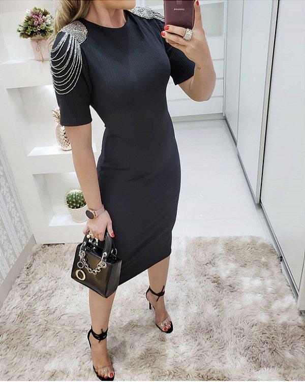 Vestido mid black