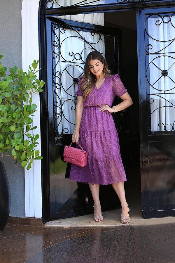 Vestido lilás Ariane