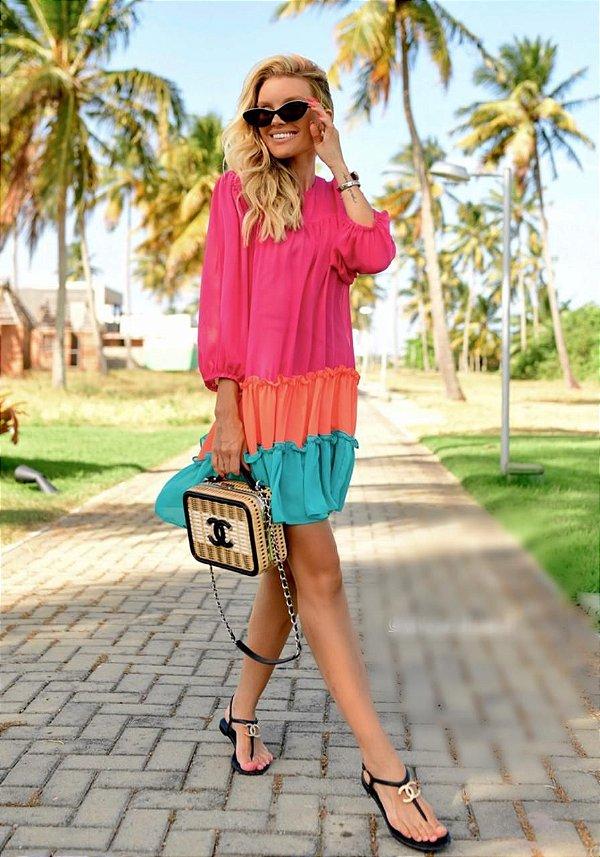 Vestido Color Bianca