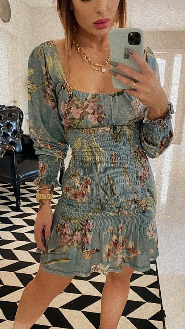 Vestido Floral Lastex