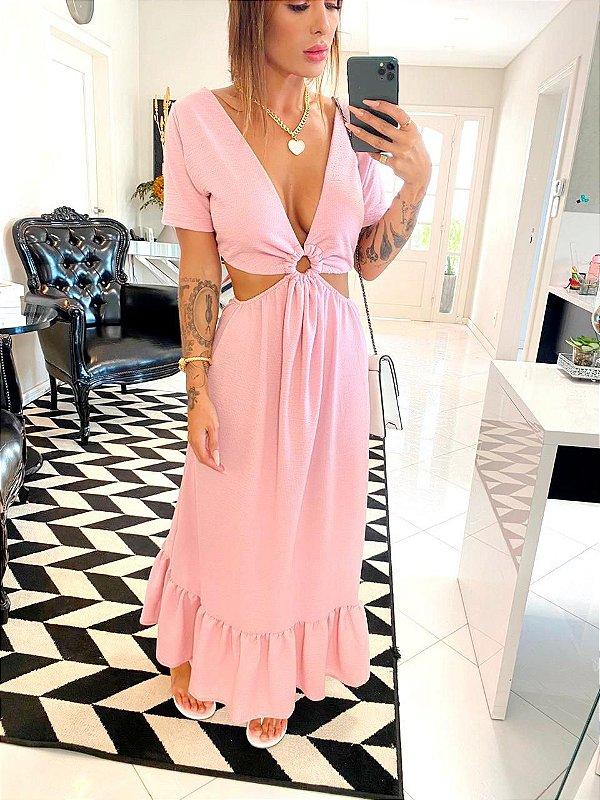 Vestido Rosa Argola