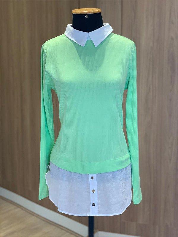 Blusa Sobreposição Verde