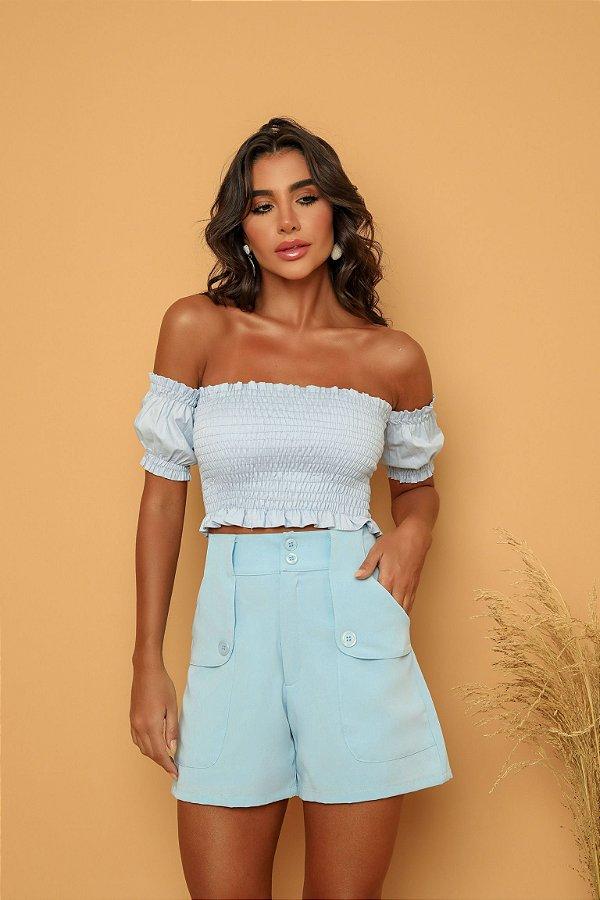 Shorts Azul Claro