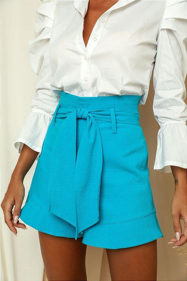 Shorts Faixa Azul