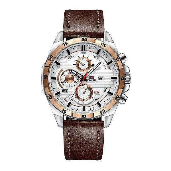 relógio masculino prata dourado esportivo VA VA VOOM 216MA2