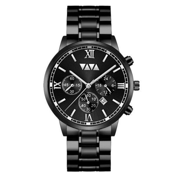 relógio masculino preto social esportivo VV VOOM PR1