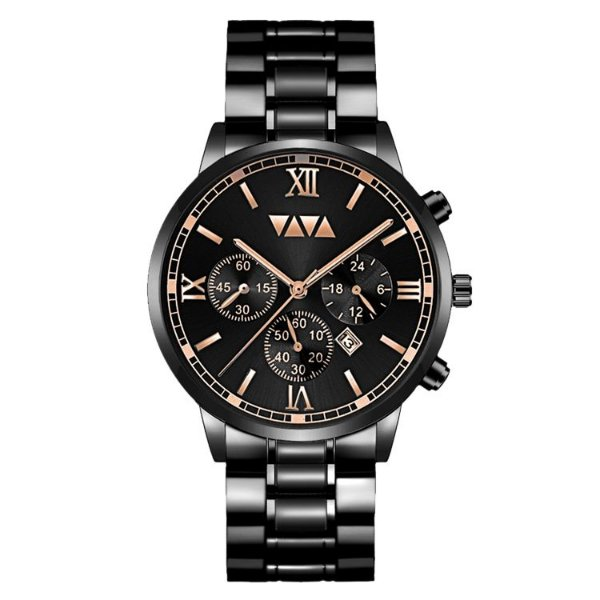 relógio masculino preto dourado social esportivo VV VOOM PD1