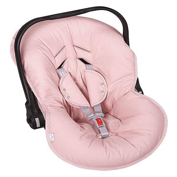 Capa para bebê Conforto e Protetor de Cinto Cor Rosê