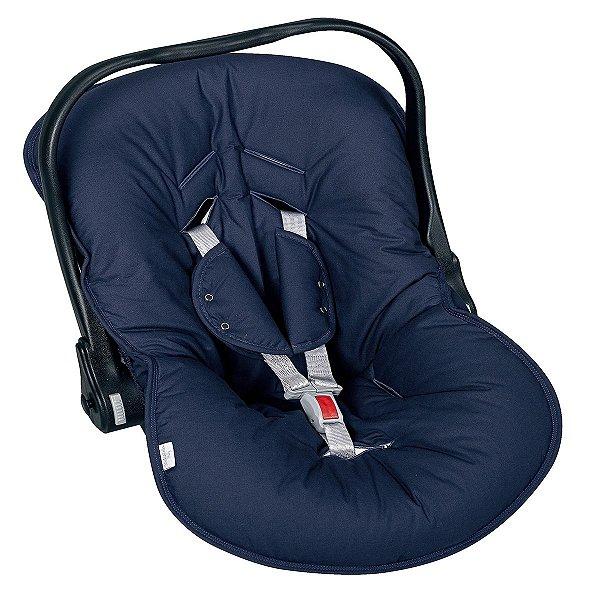 Capa para bebê Conforto e Protetor de Cinto Cor Azul Marinho