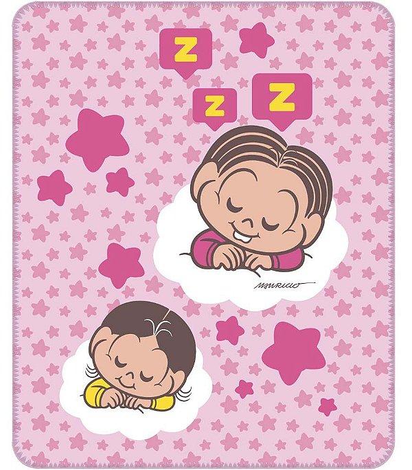 Cobertor para Bebê Estampado Mônica e Magali