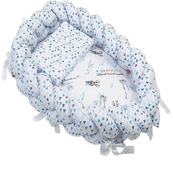 Ninho Trança + Travesseiro Antissufocante Estampado Masculino