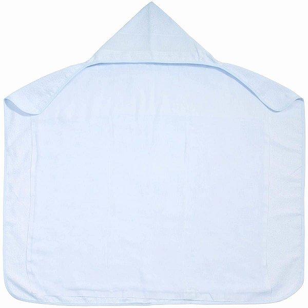 Toalha de Banho para Bordar Branca com Capuz e Forro Fralda