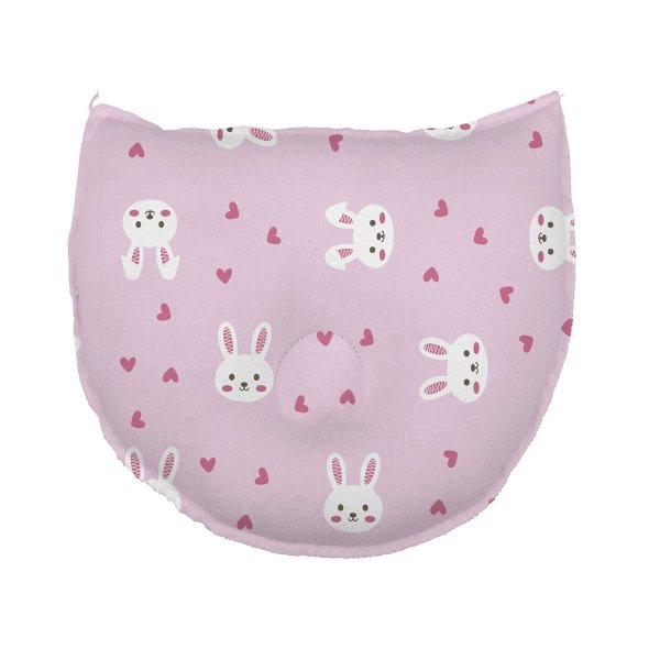 Travesseiro para Bebê Anatômico Estampado Coelha