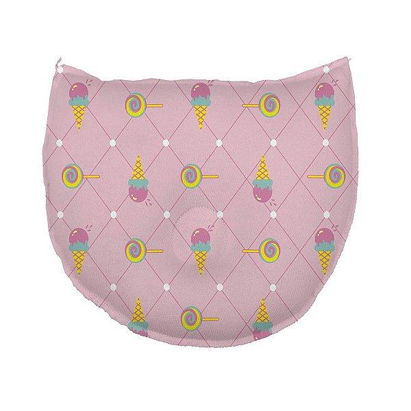 Travesseiro para Bebê Anatômico Estampado Doces