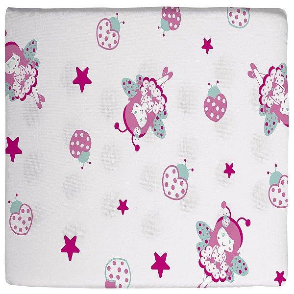 Travesseiro para Bebê Antissufocante Estampado Borboleta Bailarina