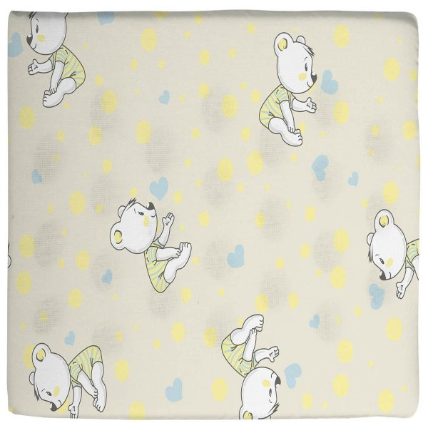 Travesseiro para Bebê Antissufocante Estampado Amarelo