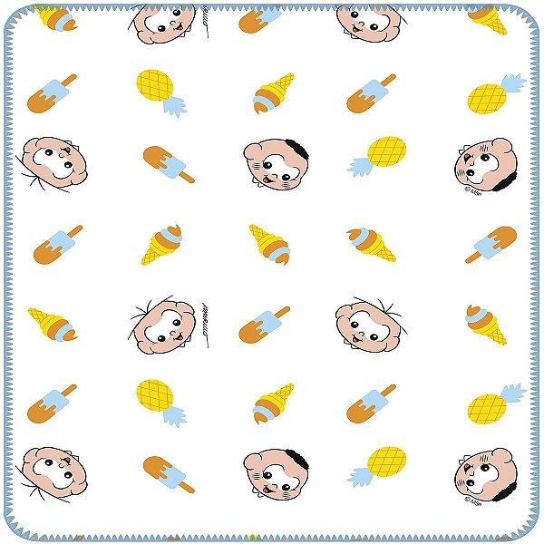 Cobertor para Bebê Flanelado 100% Algodão Cebolinha e Cascão