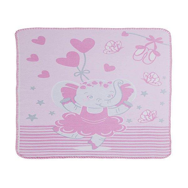 Cobertor Estampado Elefante Bailarina