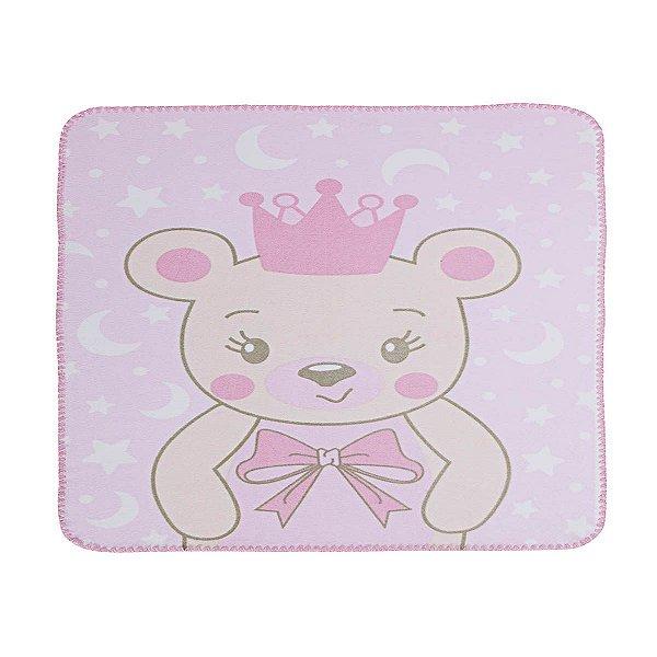 Cobertor Estampado Ursa Princesa 100% algodão