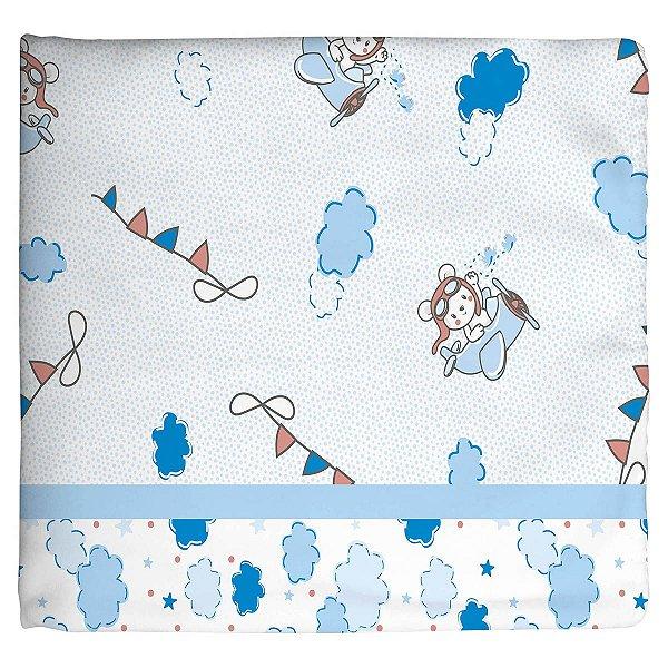 Cobertor Estampado Azul Aviador
