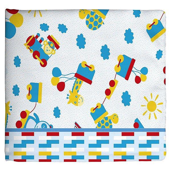 Cobertor para Bebê Estampado Trenzinho