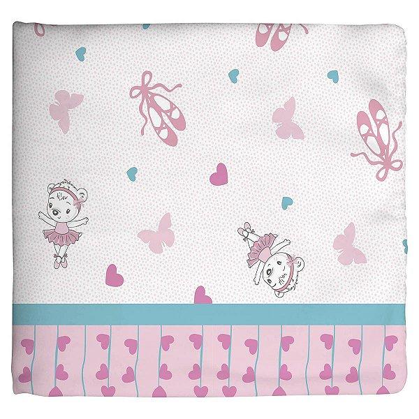 Cobertor Estampado Rosa Bailarina