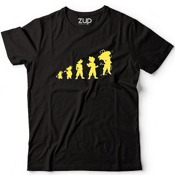 Camiseta Evolução Goku