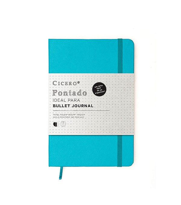 Caderno Pontilhado Médio Cicero Turquesa