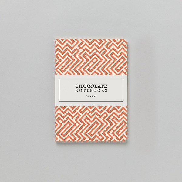 Caderno Pontilhado Médio Chocolate Notebooks Labirinto