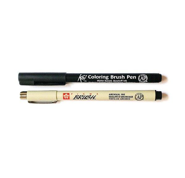 Duo de canetas Sakura tons pretos